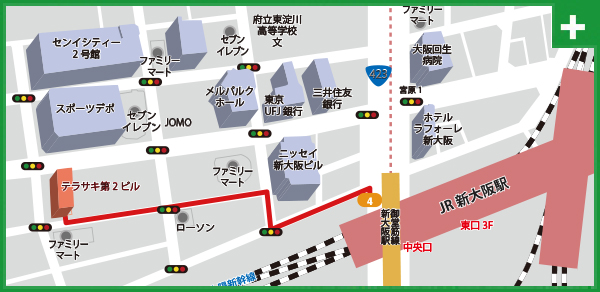 大阪支店地図