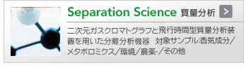 Separation Science 質量分析